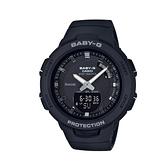 【CASIO 卡西歐】卡西歐Baby-G 藍芽多功能雙顯錶-黑(BSA-B100-1A)