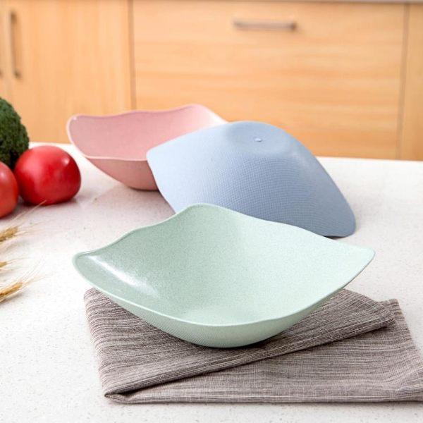 [超豐國際]小麥秸稈方形果盤客廳干果盤創意家用瓜子盤零食碟子水果盤
