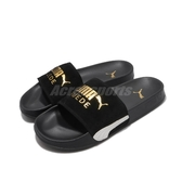 Puma 拖鞋 Leadcat FTR Suede Classic 黑 金 男鞋 女鞋 麂皮鞋面 涼拖鞋 【ACS】 37227701