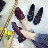 英倫風女鞋新款樂福鞋女平底學院韓版單鞋漆皮小皮鞋百搭