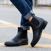 時尚防滑雨鞋男成人防水鞋套鞋低筒馬丁雨靴男大碼短筒水靴  9號潮人館