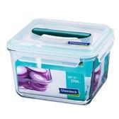 Glass Lock強化玻璃保鮮盒附提把3700ml長方型密封盒RP604便當盒副食品保存盒-大廚師百貨