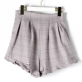[titty&co]千鳥格紋造形短褲(灰)
