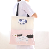 帆布包 休閒手提磁扣單肩包 環保購物袋 【YL0845】BOBI 01/04