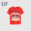 Gap男幼童 布萊納系列 純棉童趣圓領短袖T恤 681413-紅色