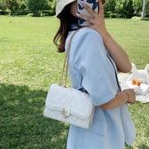 錬條包網紅小包包女包2020夏季新款潮時尚百搭ins側背斜背包錬條小方包 玩趣3C