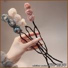 『坂井.亞希子』含苞待放雪紡碎花造型盤髮器
