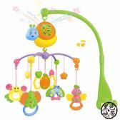 新生嬰兒玩具0-3個月益智床頭鈴女寶寶6個月男孩床鈴音樂旋轉搖鈴 ~黑色地帶
