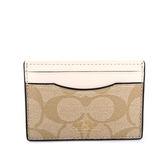 【COACH】PVC LOGO卡夾/名片夾(白色)F63279 IMDQC