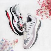 【雙12現貨折後$3280】NIKE AIR MAX 98 白黑粉 女 氣墊 跑鞋 復古 慢跑鞋 運動 休閒 AH6799-104