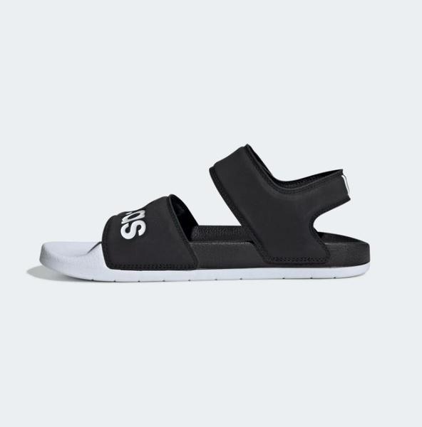 Adidas ADILETTE SANDAL 男女款黑白色運動涼拖鞋-NO.G28695