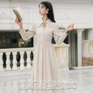 洋裝實拍售價不低於120 格子連身裙減齡設計感仙女裙 【快速出貨】