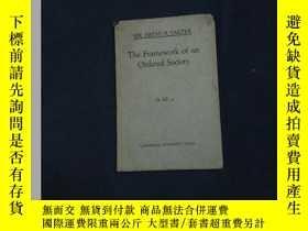 二手書博民逛書店The罕見Framework of an Ordered SocietyY395388 SIR ARTHUR