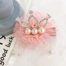 蕾絲珍珠水鑽皇冠髮夾 髮飾 髮夾 兒童髮飾 花童 婚禮 拍照 攝影 全家福 橘魔法 女童