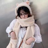 帽子女秋冬季甜美可愛冬天毛絨圍巾一體韓版護耳保暖手套三件套潮