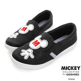Disney 非常人物~ 米奇電繡M字亮蔥便鞋-黑