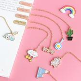 書籤  精美金屬書簽可愛創意吊墜學生用卡通鏈子禮物小清新韓國文具禮品 寶貝計畫