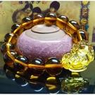 開光黃水晶貔貅手環手鍊(14mm水晶珠)