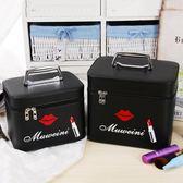 韓國化妝包大號大容量多功能可愛小號簡約便攜化旅行紅唇手提妝箱