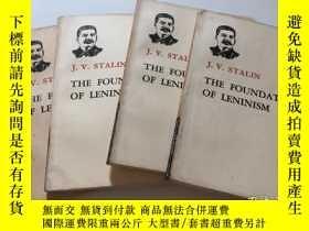 二手書博民逛書店THE罕見FOUNDATIONS OF LENINISM (斯大