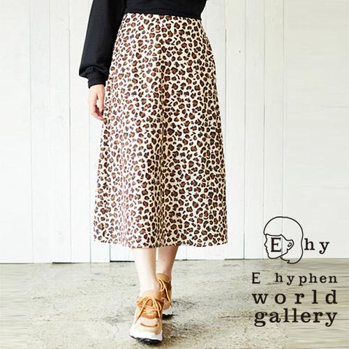 「Autumn」 Hello Kitty聯名款-豹紋中長裙 - E hyphen world gallery