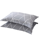 【限時下殺89折】全棉信封枕套一對裝棉質條紋格子簡約單人48*74枕芯套枕頭套子