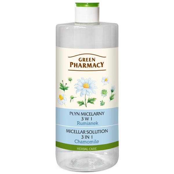 【Green Pharmacy草本肌曜】洋甘菊舒緩四效潔膚水500ml  (混和油性肌適用)