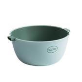 簡約雙層 瀝水籃/洗菜籃-湖水綠