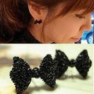 蝴蝶結滿鑽耳釘 2013 最新 韓版鑲鑽 耳環 【B1003】