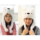 白熊造型帽子 兒童大人成人造型帽 萬聖節聖誕節  角色扮演服裝