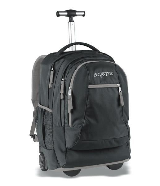 JANSPORT 原廠二段式拉桿電腦背包 可登機 ~ 潮流黑 (JS43743)(免郵大放送)