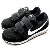《7+1童鞋》中童 NIKE MD RUNNER 2 (PSV) 黑白經典款 運動鞋 慢跑鞋 F856 黑色
