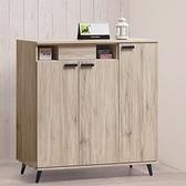 【水晶晶家具/傢俱首選】CX1619-5 莫托斯橡木120公分超耐磨耐刮木心板鞋櫃
