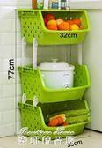廚房置物架落地多層式省空間用品用具小百貨果蔬菜籃子收納筐架子YYP  麥琪精品屋