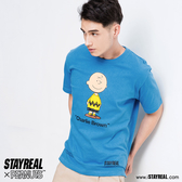 STAYREAL X PEANUTS 倔強查理布朗定番T