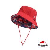 Naturehike 經典LOGO薄款透氣防曬漁夫帽 遮陽帽 紅色