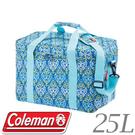 【Coleman 美國 25L 藍葉圖騰保冷袋】CM-22219/保冷袋/保冰袋