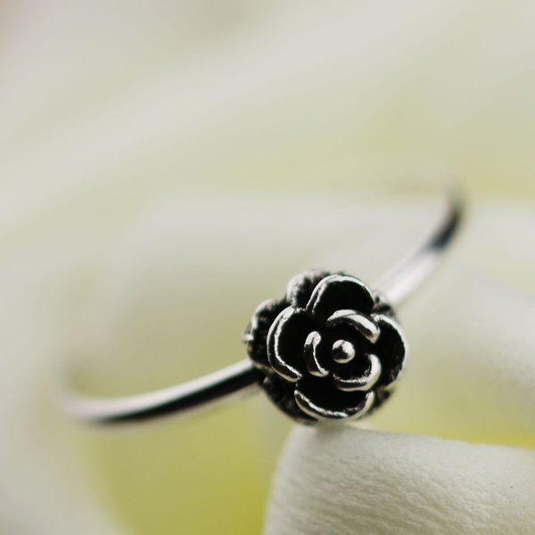 【TT59】韓國流行復古玫瑰花朵 韓版戒指