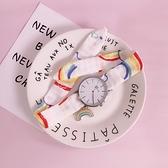 藍染自制新款可愛少女心彩紅掛件大表盤手錶手飾品圓表學生裝飾 時尚芭莎