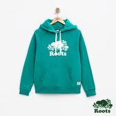 女裝Roots- 庫柏海狸刷毛連帽上衣 - 綠色
