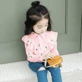 童裝女童襯衫2018新款春裝兒童春秋長袖襯衣