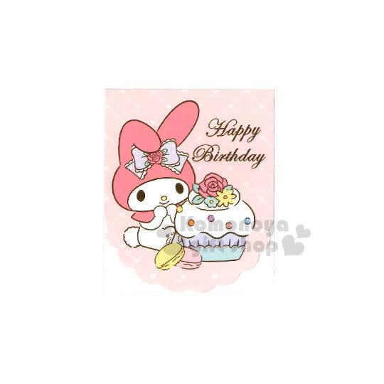〔小禮堂〕美樂蒂 生日小卡片《粉.杯子蛋糕.馬卡龍》送禮卡.祝賀卡 4714581-18257