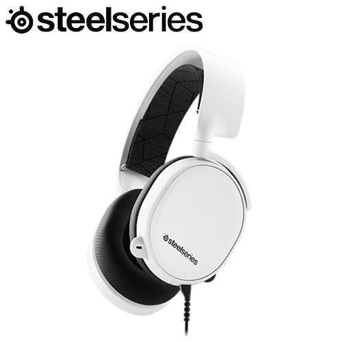 SteelSeries賽睿 Arctis 3 White 有線電競耳機麥克風-白色