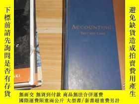 二手書博民逛書店Accounting:罕見Text and Cases 英文原版