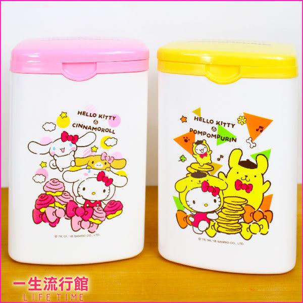 《新品》Hello Kitty 凱蒂貓 布丁狗 正版 桌上型 兒童 卡通 掀蓋 方形 垃圾桶 置物筒 收納筒 MIT B08021