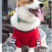 寵物衣服 狗狗貓咪衣服T恤薄款幼犬小型犬寵物柯基泰迪比熊博美法斗夏裝 GD1855『Pink領袖衣社』