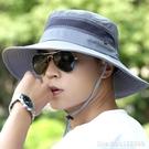 防曬帽 男士帽子夏天防曬帽遮陽帽戶外透氣男騎車帽登山釣魚太陽帽漁夫帽 星河光年