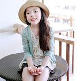 女童針織開衫夏季薄款兒童外套空調衫冰絲夏裝兒童防曬衫 QQ1198『愛尚生活館』