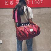 瑜伽包   短途旅行包大容量行李包時尚運動健身包潮百搭圓筒包 『伊莎公主』