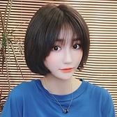 整頂假髮(真髮)-逼真短髮內彎百搭女假髮2色74ah44【時尚巴黎】